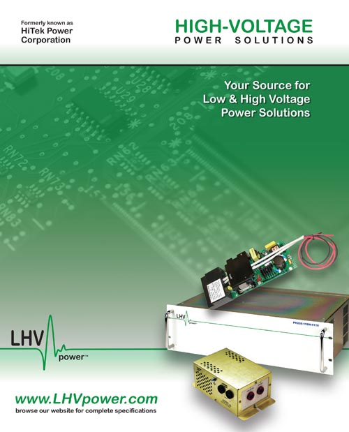 8 page High Voltage Power Catalog Design
